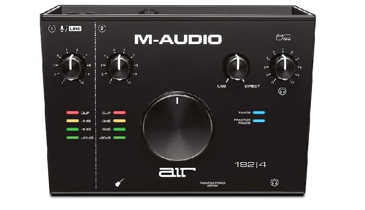 M-Audio AIR 192-4 Audio Interface with Recording Software