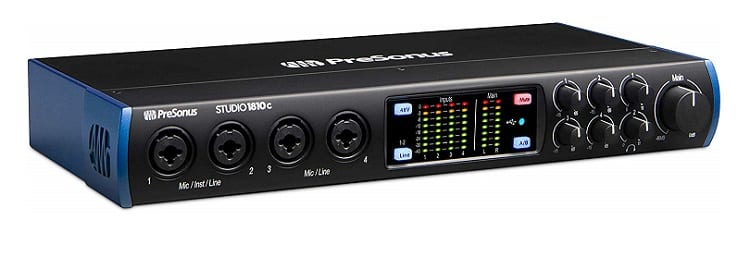 PreSonus Studio 1810c 18x8, 192 kHz, USB-C Audio Interface, 4 Mic Pres-6 Line Outs-ADAT, Black