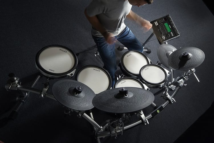 Man Playing On Electronic Drums